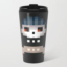 Pixel Skull Metal Travel Mug