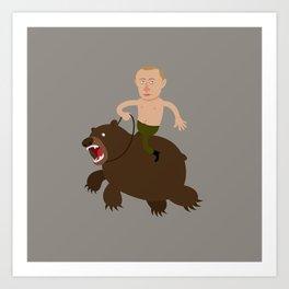 Putin Rider Art Print