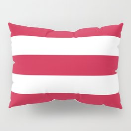 Rambutan - solid color - white stripes pattern Pillow Sham