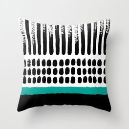 November Forest abstract pattern Throw Pillow