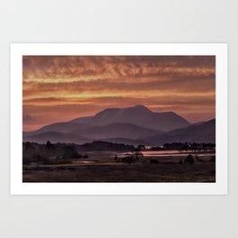 Scotland Ben Nevis mountain at sunrise Art Print