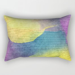 Bold Watercolor Words 4 Rectangular Pillow