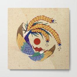 Minhwa: Asian Phoenix A Type Metal Print