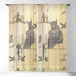 Anubis patter Sheer Curtain