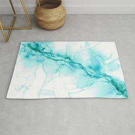 Pool:Original Abstract Alcohol Ink Painting Rug