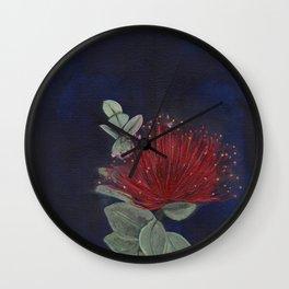 ʻŌhiʻa Lehua (Metrosideros polymorpha) Wall Clock