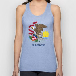 State flag of Illinois Unisex Tank Top
