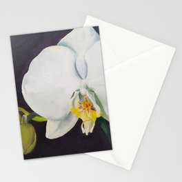 Phaelenopsis - moth orchid painting Stationery Cards