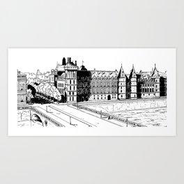 La Conciergerie, Paris, 1932 Art Print