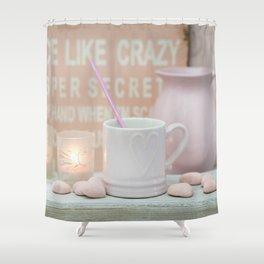 Pastel Pink Scandi-chic Still Life Shower Curtain