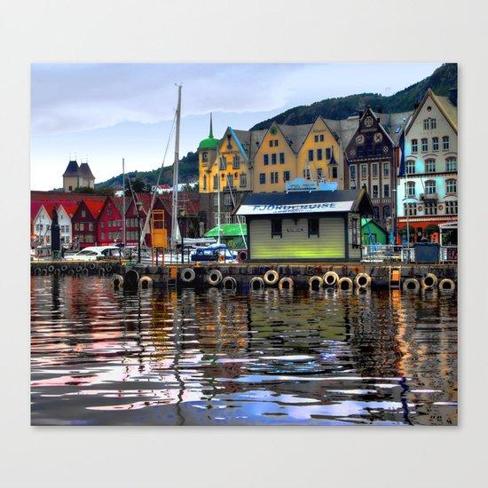 Bergen Harbour Canvas Print