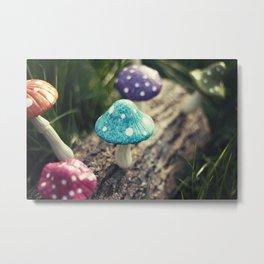 Magic Mushrooms Metal Print