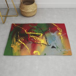 Planet Flow - Colorful abstract painting by Rasko Rug