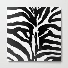 Black and white Zebra Stripes Design Metal Print