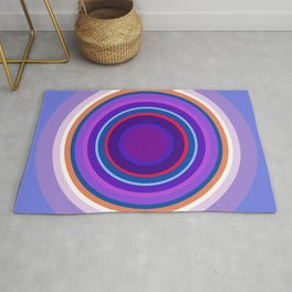 Mod Circles in Periwinkle and Purple Rug