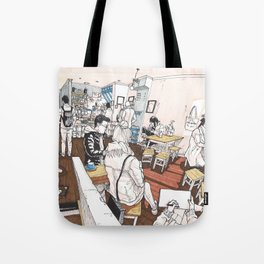 Little Rogue cafe Tote Bag