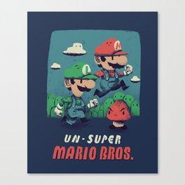 un-super bros Canvas Print