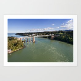 Menai bridge 1 Art Print
