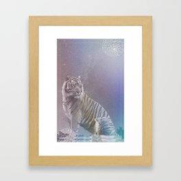 Kitten and Tiger Framed Art Print
