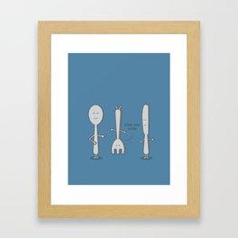 Fork You! Framed Art Print