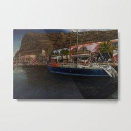 puerto de Mogan painting Pablo Alba Metal Print