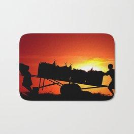 Sunset art work Bath Mat