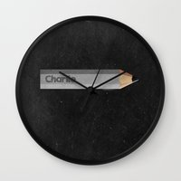 charlie Wall Clocks featuring Charlie by Jude's