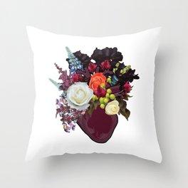 Anatomical Floral 2 Throw Pillow