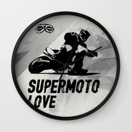 Supermoto Love Wall Clock