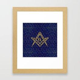Freemasonry symbol Square and Compasses Framed Art Print