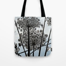 Queen Anne's Lace from a bug's view Tote Bag
