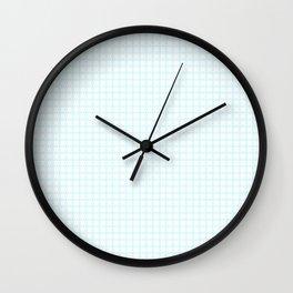 White Cell Checks Wall Clock