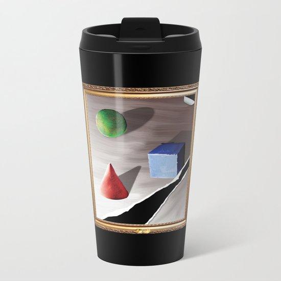 Broken By Design Metal Travel Mug