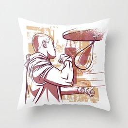 Boxer boxing training Throw Pillow