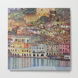 "Gustav Klimt ""Malcesine on Lake Garda"" Metal Print"