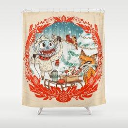 Golly Jolly Holly Shower Curtain