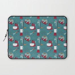 Retro Kitchen - Teal and Raspberry Laptop Sleeve
