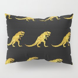 Golden T.Rex Pattern Pillow Sham
