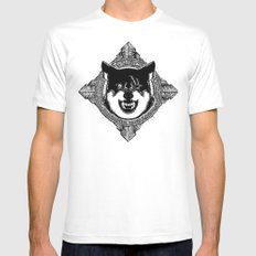 Wolf MEDIUM Mens Fitted Tee White