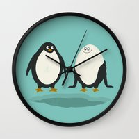 suit Wall Clocks featuring bathing suit by gotoup