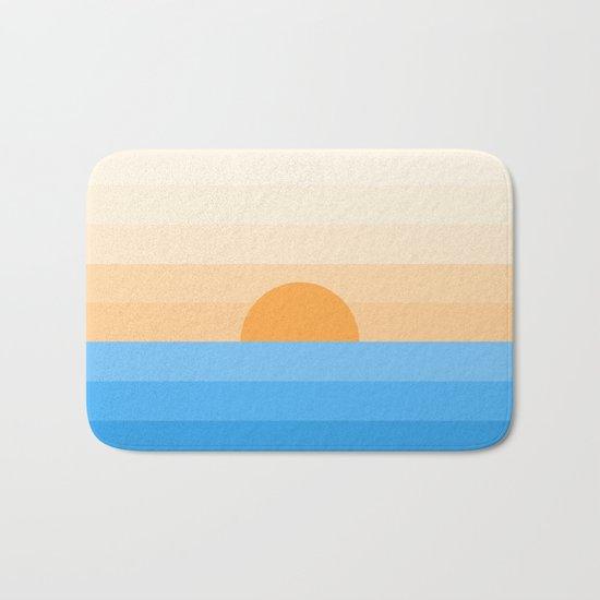Sun goes down Bath Mat