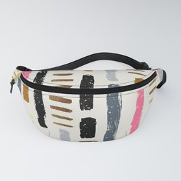 Abstract line strokes Fanny Pack