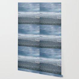 Cloudy Beach Morning Wallpaper