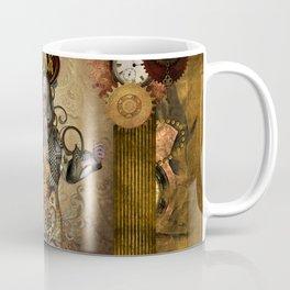 Awesome steampunk women with owl Coffee Mug