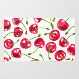 Watercolor cherries pattern Rug