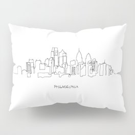 Philadelphia Skyline Drawing Pillow Sham