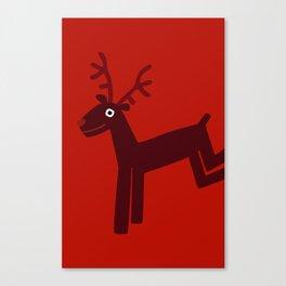 Reindeer-Red Canvas Print