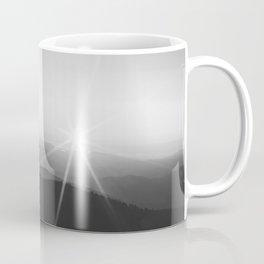 Sun on the Hill (Black and White) Coffee Mug