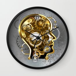 Steampunk Head with Manometer Wall Clock