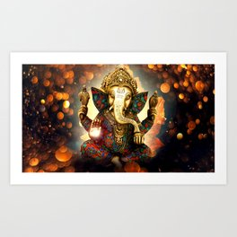 Ganesha Kunstdrucke